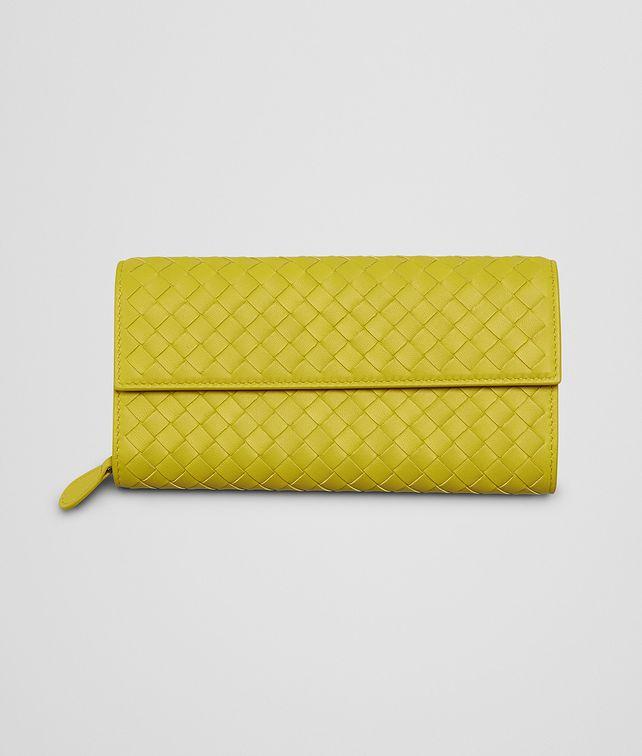 BOTTEGA VENETA New Chartreuse Intrecciato Nappa Continental Wallet Continental Wallet D fp