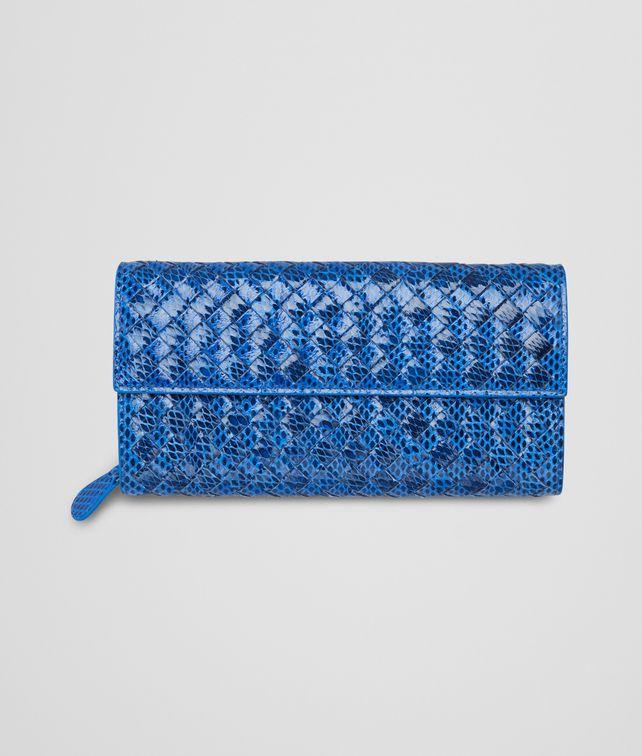 BOTTEGA VENETA SIGNAL BLUE Intrecciato Ayers Livrea CONTINENTAL WALLET Continental Wallet D fp