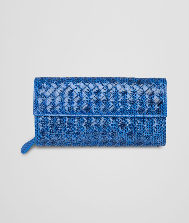 BOTTEGA VENETA CONTINENTAL PORTEMONNAIE aus Ayers Livrea Intrecciato SIGNAL BLUE Continental Portemonnaie D fp