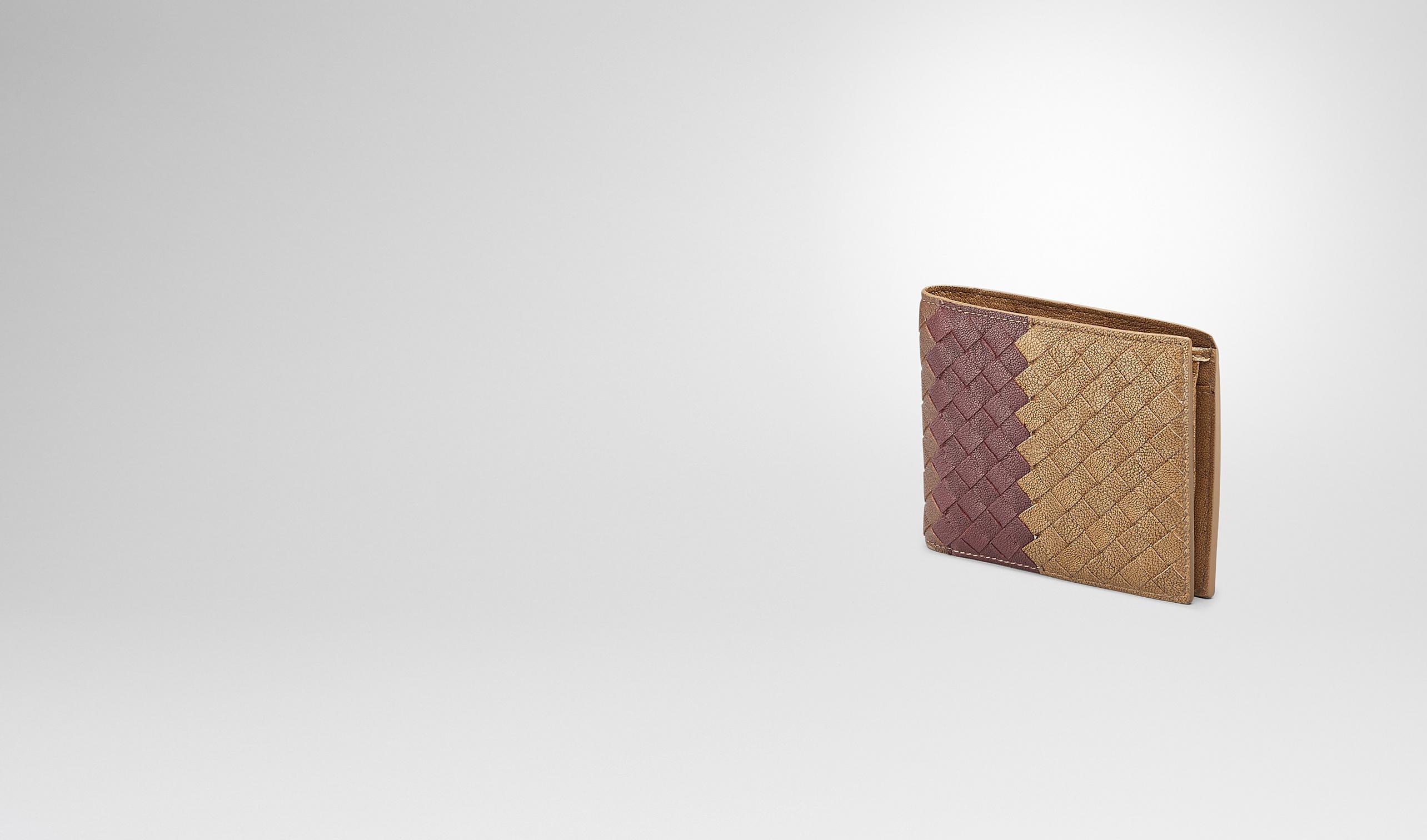 BOTTEGA VENETA Bi-fold Wallet U New Bronze Aubergine Edoardo Intrecciato Club Fumé Wallet pl