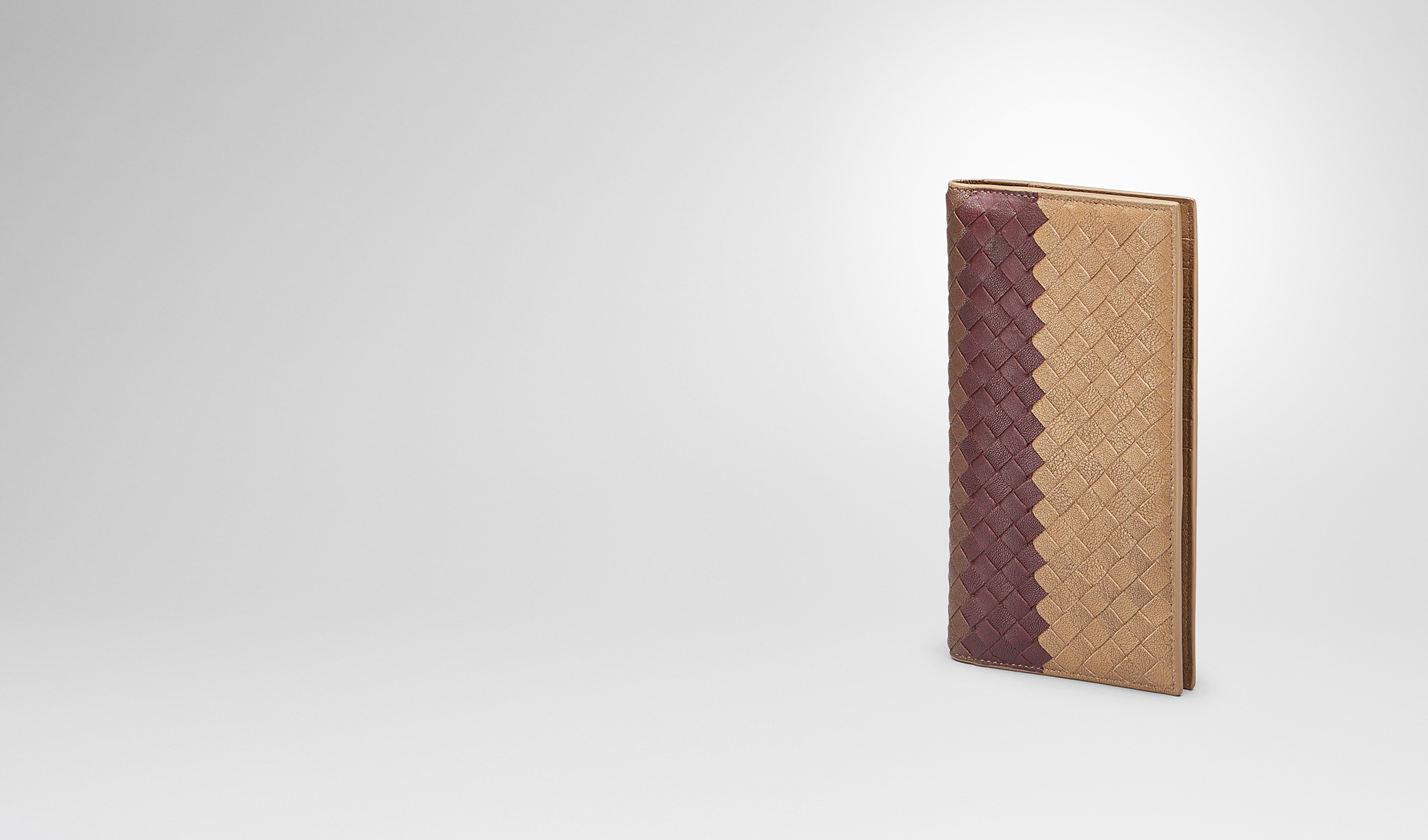 BOTTEGA VENETA Continental Wallet U New Bronze Aubergine Edoardo Intrecciato Club Fumé Continental Wallet pl