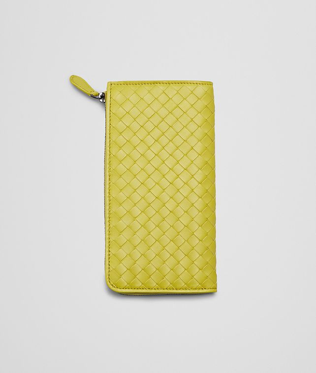 BOTTEGA VENETA NEW CHARTREUSE INTRECCIATO NAPPA ZIP AROUND WALLET Zip Around Wallet D fp