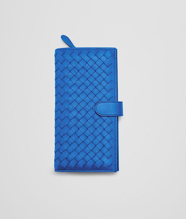 BOTTEGA VENETA CONTINENTAL PORTEMONNAIE AUS NAPPALEDER INTRECCIATO SIGNAL BLUE Continental Portemonnaie D fp