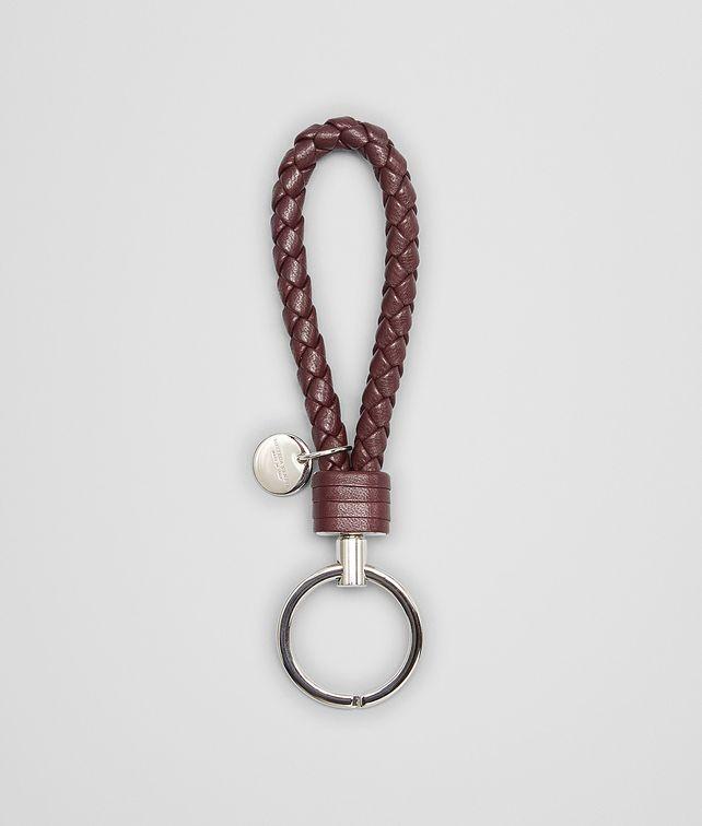 BOTTEGA VENETA AUBERGINE INTRECCIATO NAPPA KEY RING Keyring or Bracelets E fp