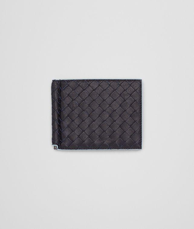 a2d1d18e7eab BOTTEGA VENETA WALLET IN DARK NAVY CIEL CALF INTRECCIATO Bi-fold Wallet