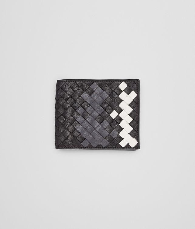 e1e12fa96b0f BOTTEGA VENETA WALLET IN NERO MEDIUM GREY MIST INTRECCIATO LAMBSKIN Bi-fold  Wallet