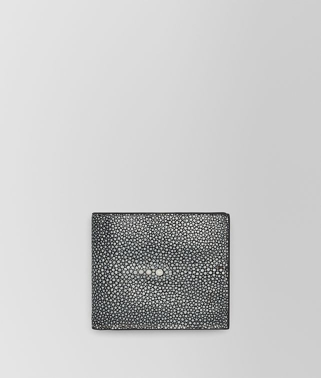 BOTTEGA VENETA BI-FOLD WALLET WITH COIN PURSE IN NERO STINGRAY Bi-fold Wallet U fp