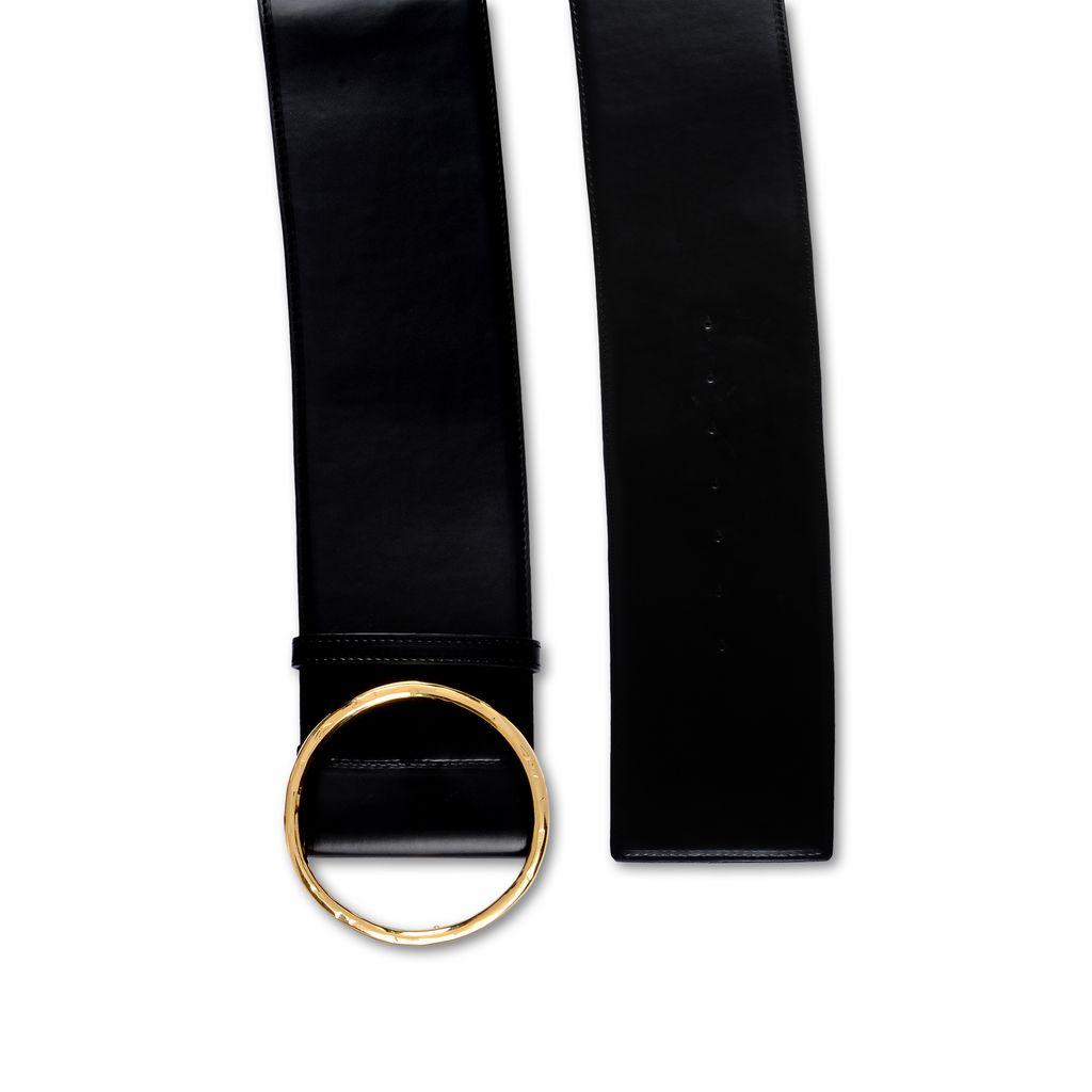 Black Shiny Alter Nappa Waist Belt - STELLA MCCARTNEY