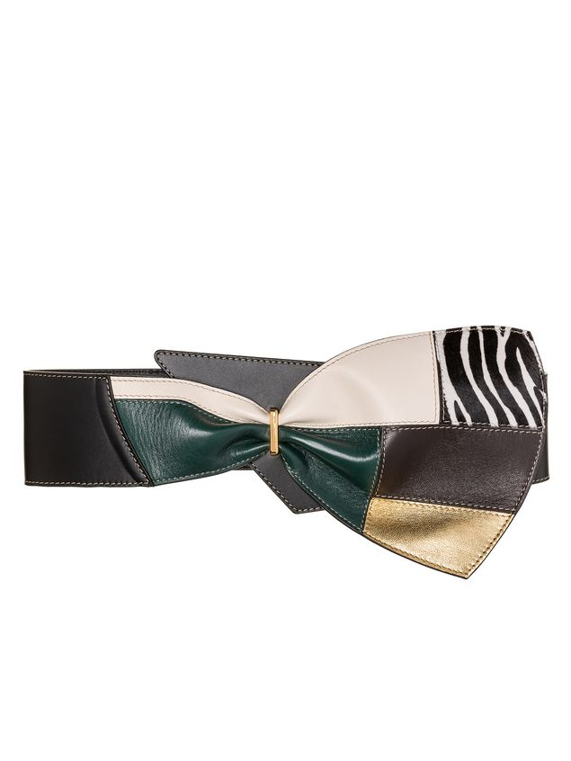 Marni Belt in calfskin patchwork bow Woman - 1
