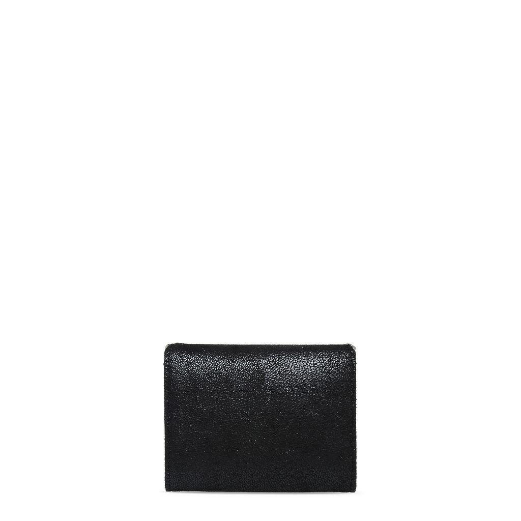 Black Falabella Shaggy Deer Small Wallet - STELLA MCCARTNEY