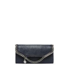 STELLA McCARTNEY Falabella Wallets D Navy Falabella Shaggy Deer Continental Wallet f