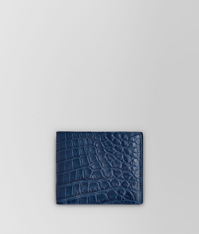BOTTEGA VENETA PORTAFOGLIO BI-FOLD IN COCCODRILLO PACIFIC Portafoglio bi-fold Uomo fp