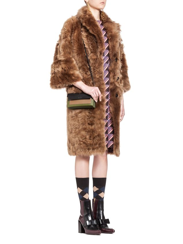 Marni Wallet in saffiano calfskin, TRUNK design Woman - 5