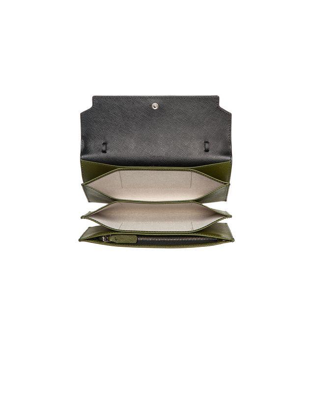 Marni Wallet in saffiano calfskin, TRUNK design Woman - 4