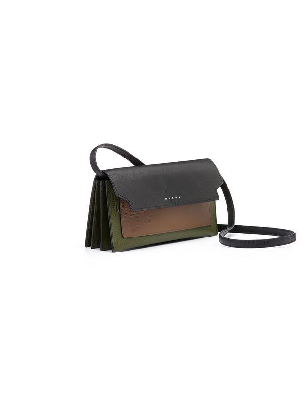 Marni Wallet in saffiano calfskin, TRUNK design Woman - 2