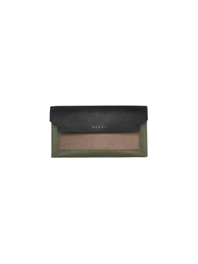 Marni Wallet in saffiano calfskin, TRUNK design Woman - 1