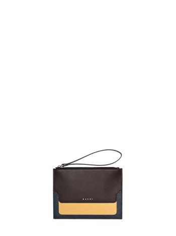 Marni Clutch in saffiano calfskin, TRUNK design Woman
