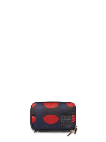 Marni PORTER zip-around wallet in printed nylon Man
