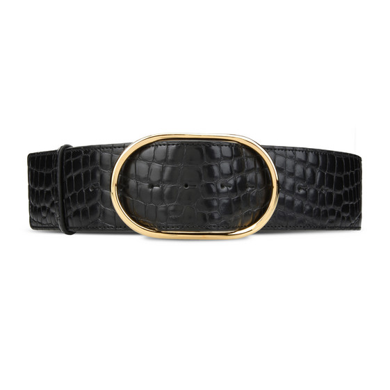 Black Alter Croco Belt