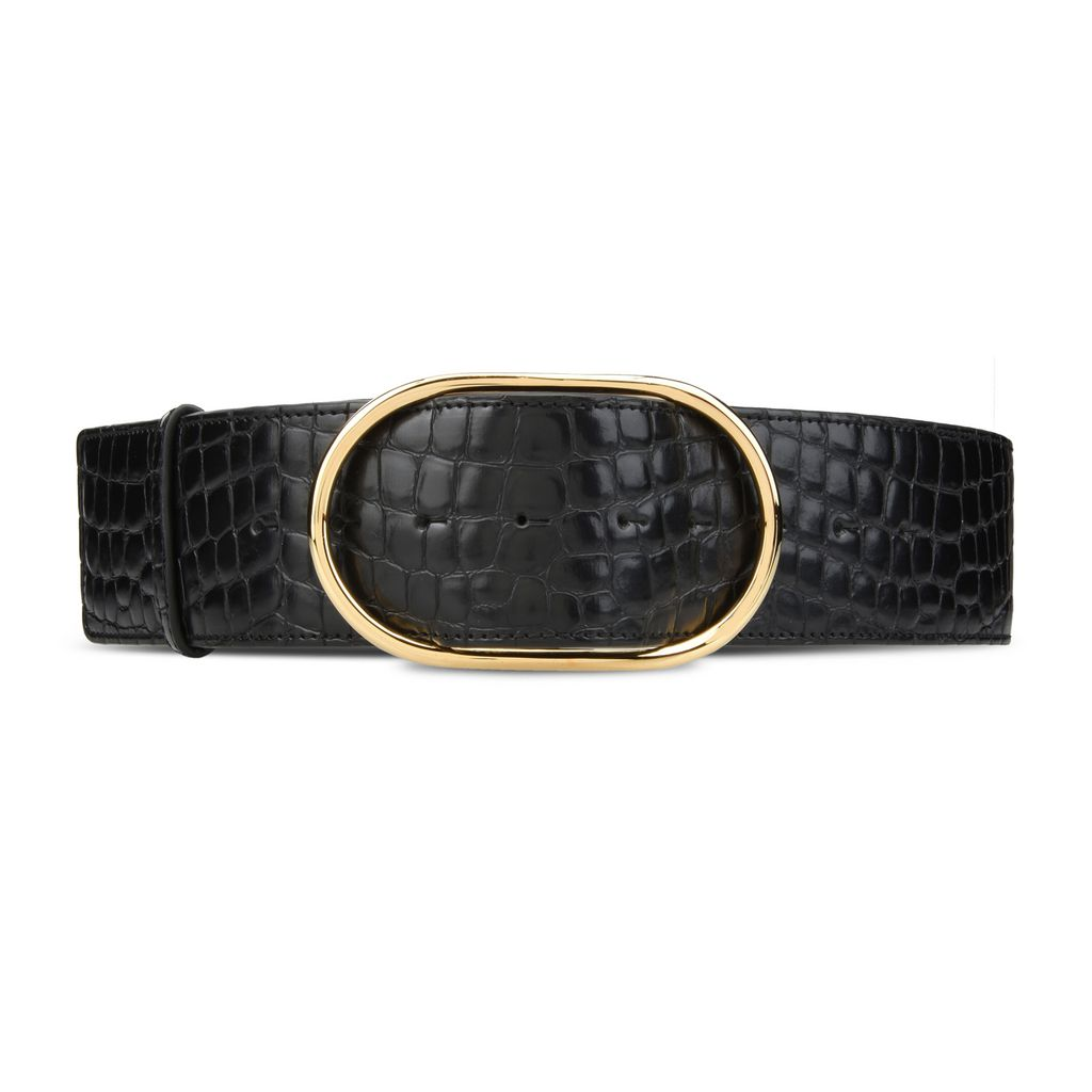 Black Alter Croco Belt - STELLA MCCARTNEY