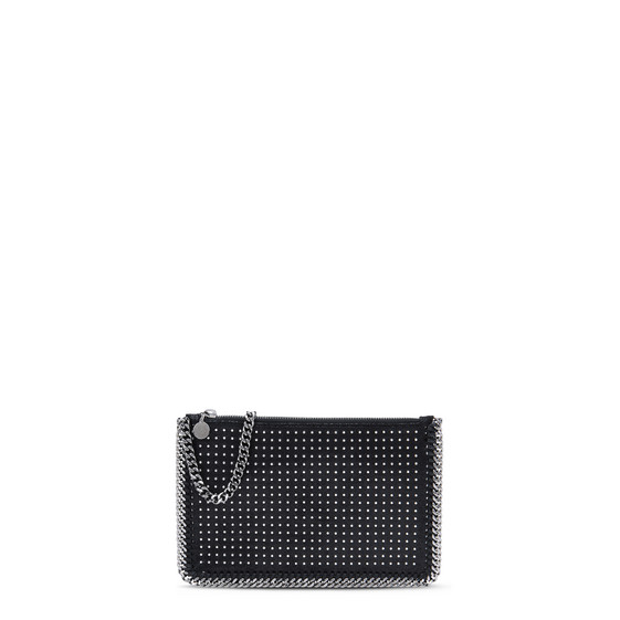 Black Falabella Studded Purse