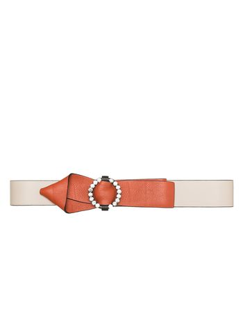 Marni Calfskin belt with crystal buckle Woman