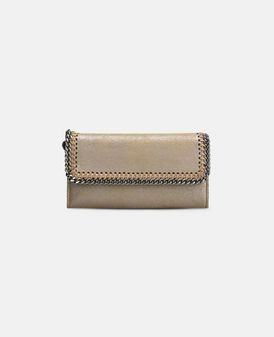 Redwood Falabella Shiny Dotted Chamois Flap Wallet