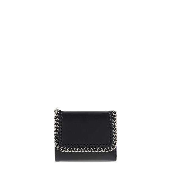 Petit portefeuille à rabat Falabella Box noir