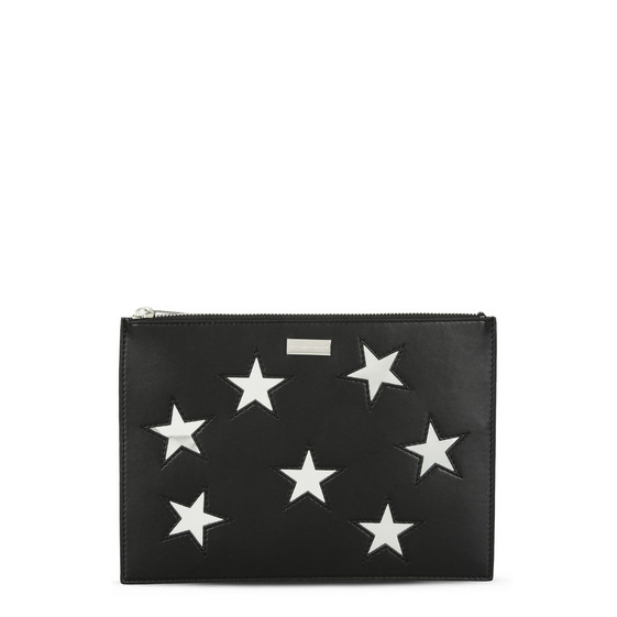 Black Metallic Stars Document Case