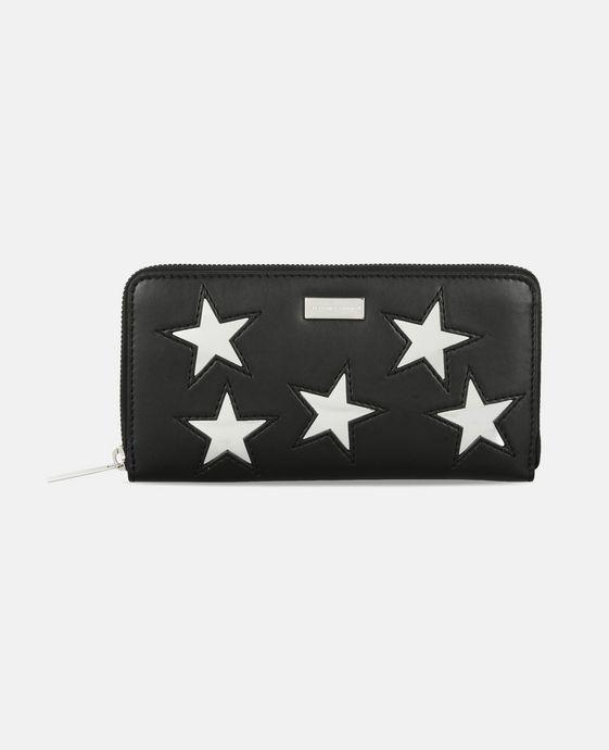 STELLA McCARTNEY Black Metallic Stars Zip Wallet Wallets & Purses D c