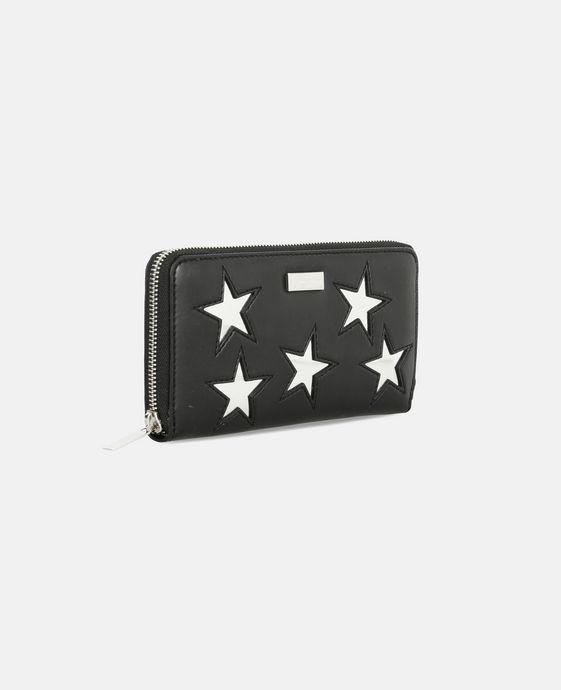 STELLA McCARTNEY Black Metallic Stars Zip Wallet Wallets & Purses D h