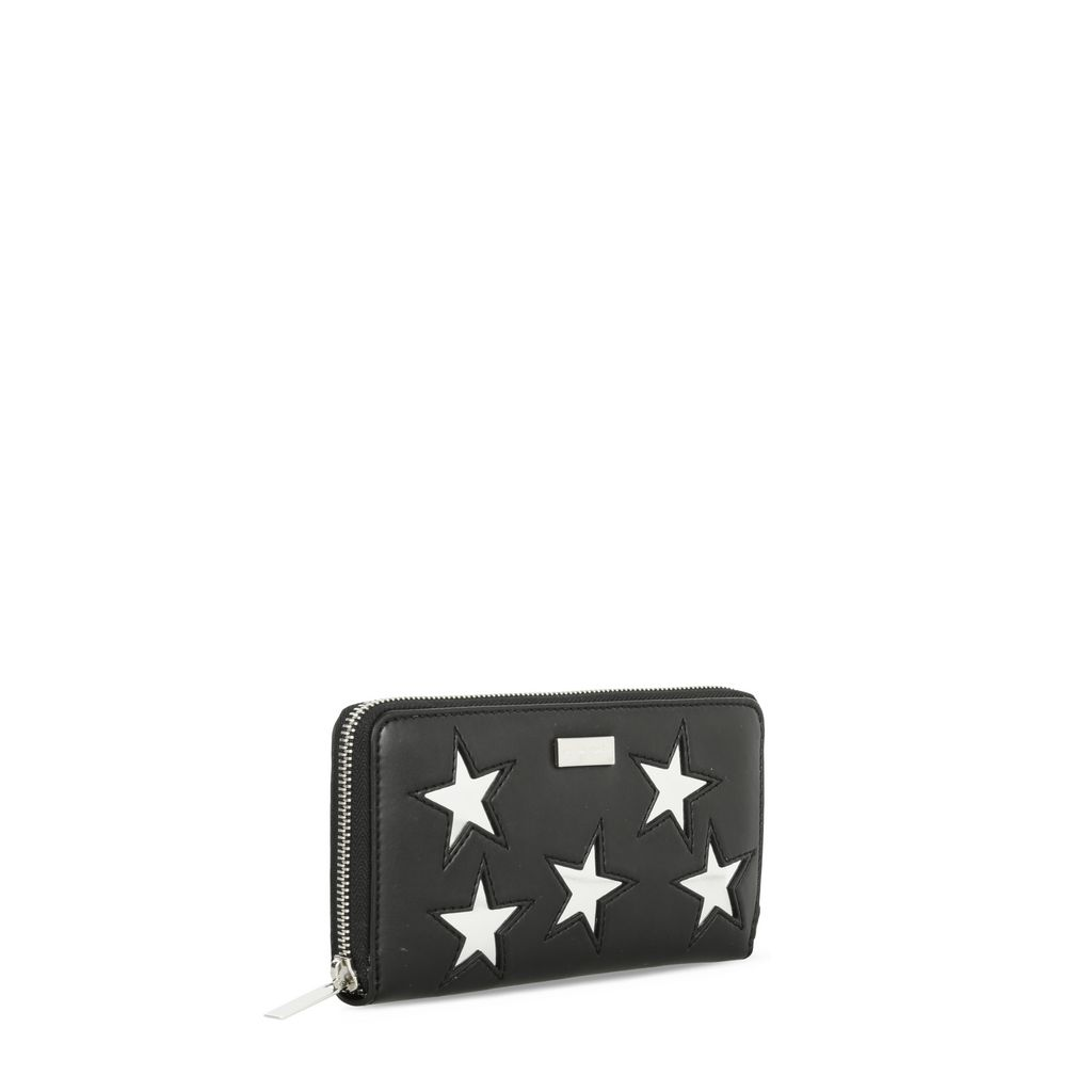Black Metallic Stars Zip Wallet - STELLA MCCARTNEY