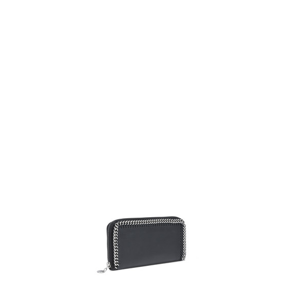 Black Falabella Box Continental Wallet
