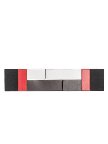 Marni Wide stretch belt in calfskin Woman