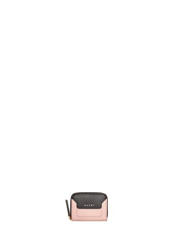 Marni Zip-around wallet in Saffiano calfskin Woman