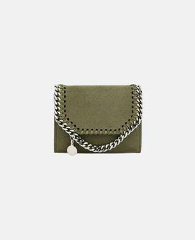Olive Falabella Shaggy Deer Small Wallet