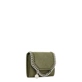 Olive Falabella Shaggy Deer Small Wallet