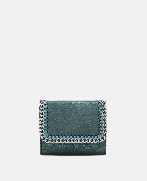 Petroleum Falabella Small Flap Wallet