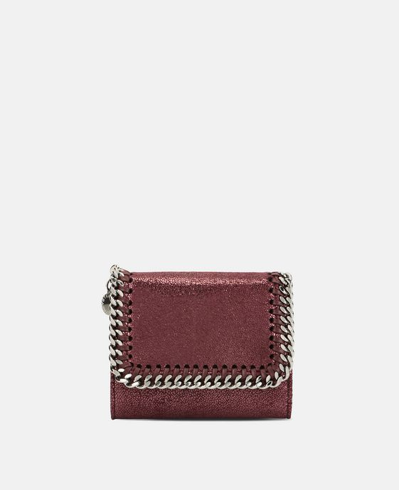 Indian Red Falabella Shiny Dotted Small Flap Wallet