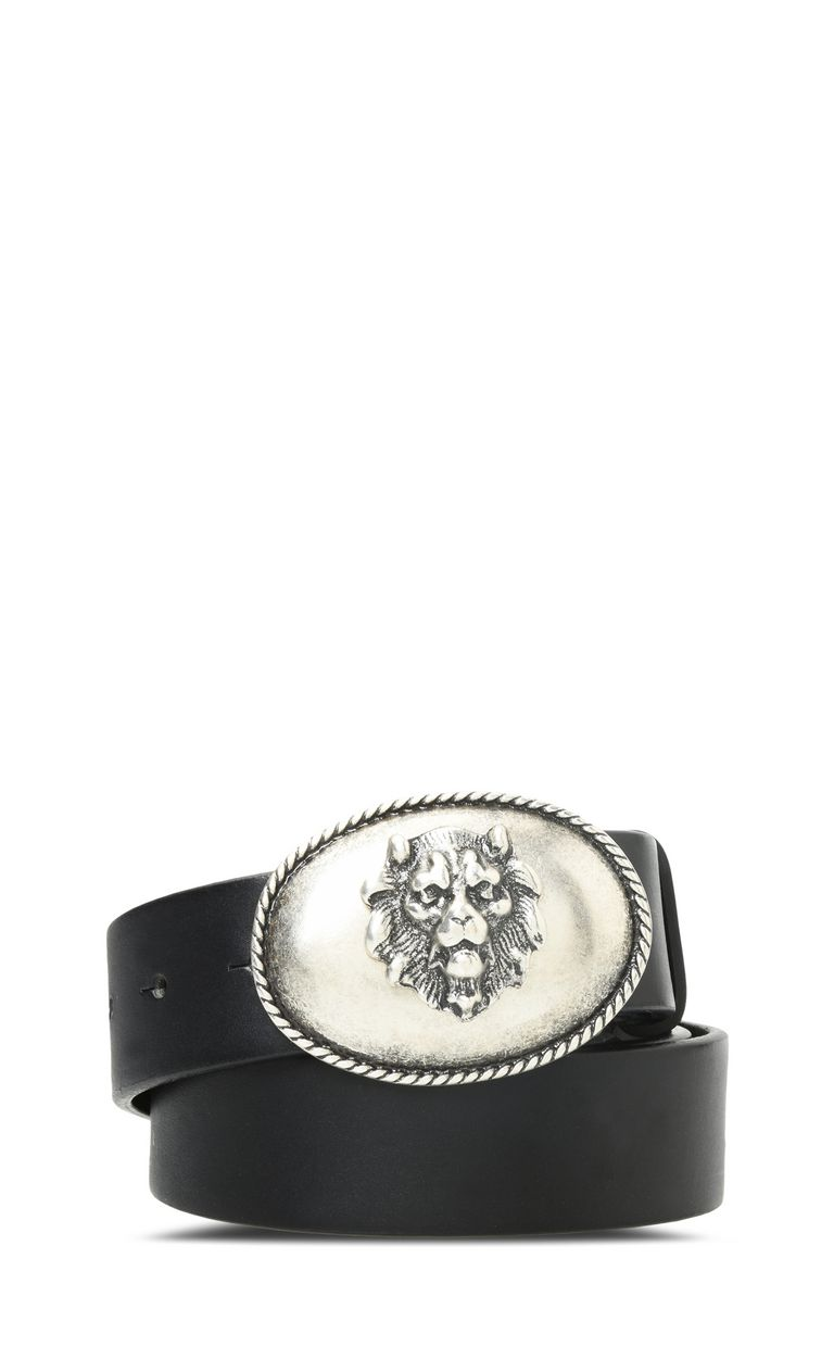 JUST CAVALLI Leather belt with detailed buckle Belt Woman f