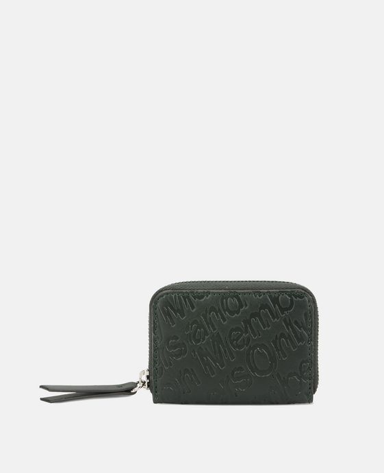 Green Eco Alter Nappa Embossed Coin Purse