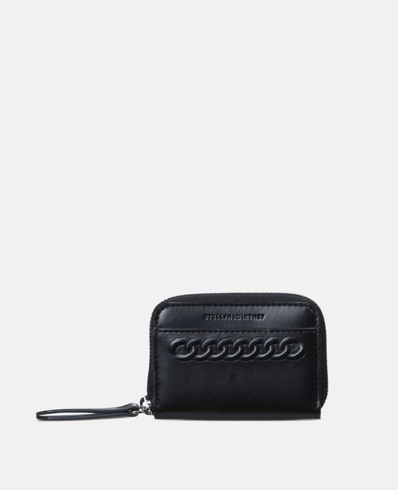Black Eco Alter Nappa Falabella Coin Purse