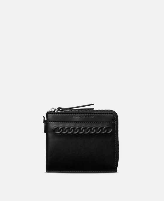 Black Eco Alter Nappa Falabella Card Case