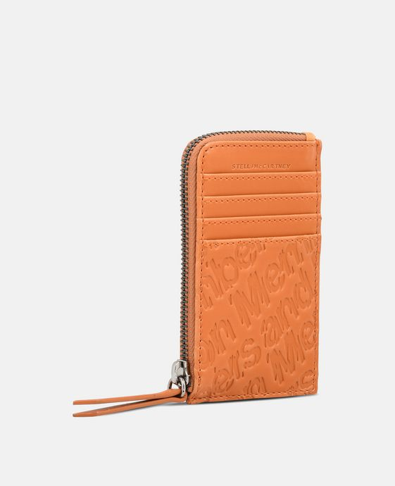 Honey Eco Alter Nappa Embossed Card and Coin Case
