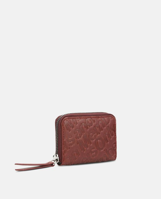 Red Eco Alter Nappa Embossed Coin Purse