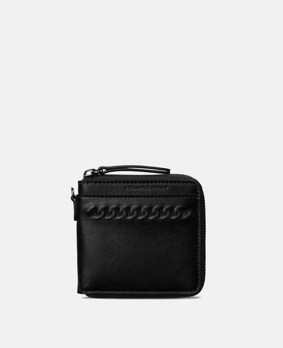 Black Eco Alter Nappa Falabella Wallet