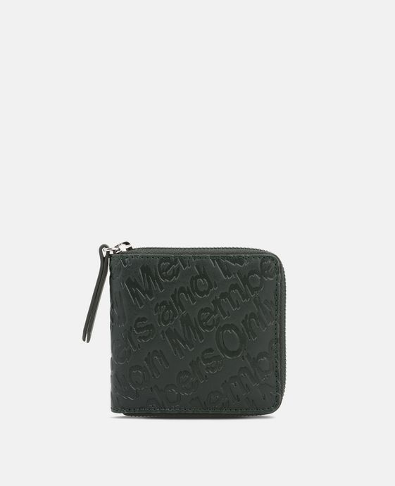 Green Eco Alter Nappa Embossed Wallet