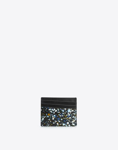 MAISON MARGIELA Credit card holder U Paint drop calfskin credit card holder f