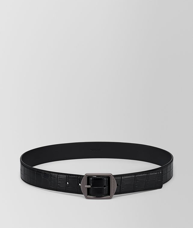 BOTTEGA VENETA NERO CROCODILE BELT Belt Man fp