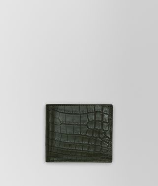 DARK MOSS CROCODILE WALLET